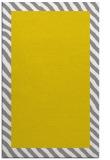 rug #1050610 |  plain yellow rug