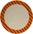 rug #1050654 | round plain orange rug
