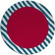 rug #1050774   round plain red rug