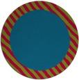 rug #1050778 | round plain blue-green rug