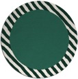 rug #1050790 | round plain blue-green rug