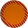 rug #1050858 | round plain orange rug