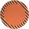 rug #1050866 | round plain orange rug