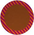 rug #1050930 | round plain red-orange rug