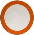 rug #1050934 | round plain red-orange rug
