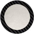 rug #1050942 | round plain white rug