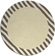 rug #1050974 | round plain yellow rug