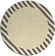 rug #1050974 | round yellow stripes rug