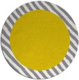 rug #1050978 | round plain yellow rug
