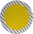 rug #1050978 | round plain white rug