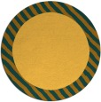 rug #1050982 | round plain yellow rug