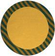 rug #1050982 | round yellow rug