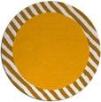rug #1051006 | round plain light-orange rug