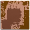 rug #1051798 | square mid-brown abstract rug