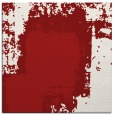 rug #1051910 | square red abstract rug