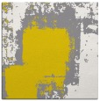 rug #1051974   square yellow abstract rug