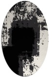 rug #1052022 | oval white rug