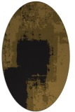 rug #1052038 | oval black graphic rug