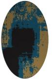 rug #1052046 | oval black rug