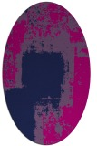 rug #1052054 | oval blue graphic rug