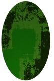 rug #1052078   oval green abstract rug