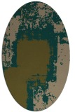 rug #1052134 | oval mid-brown rug