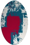 rug #1052138 | oval red abstract rug