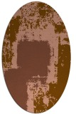 rug #1052166 | oval brown graphic rug