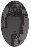 rug #1052170 | oval brown graphic rug