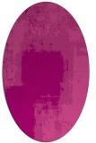 rug #1052238 | oval pink abstract rug
