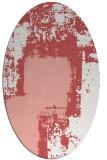 rug #1052250 | oval white rug