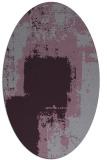 rug #1052266 | oval purple abstract rug