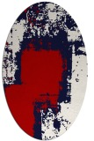 rug #1052270 | oval red abstract rug
