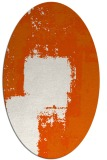 rug #1052298 | oval red-orange abstract rug