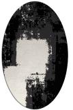 rug #1052306 | oval white rug