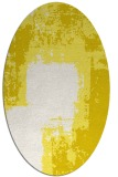 rug #1052310 | oval white graphic rug