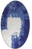 rug #1052314 | oval blue abstract rug