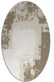 rug #1052330 | oval white graphic rug