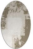 rug #1052330 | oval white abstract rug