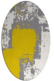 rug #1052342 | oval yellow graphic rug