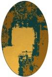 rug #1052346 | oval light-orange abstract rug