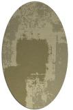 rug #1052358 | oval light-green rug