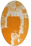 rug #1052378 | oval light-orange graphic rug