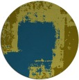 rug #1052834 | round green abstract rug