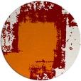 rug #1052962   round orange abstract rug