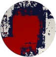 rug #1053006 | round red graphic rug