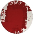 rug #1053014 | round red graphic rug