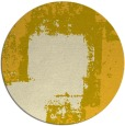 rug #1053070 | round yellow abstract rug