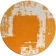 rug #1053114 | round light-orange abstract rug