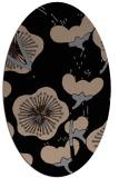 rug #105429 | oval black natural rug